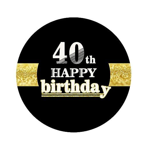 Amosfun 12pcs 40 cumpleaños Feliz Pegatinas 40 cumpleaños ...