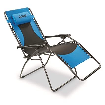 Zero Gravity Chair Blue  sc 1 st  Amazon.com & Amazon.com : Guide Gear Oversized 500 lb. Zero Gravity Chair Blue ...