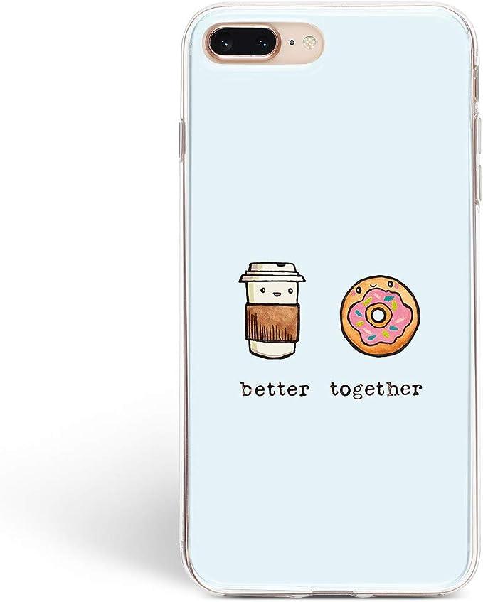 Pratique téléphone Portable Coque Aller de Pair Cute Nourriture Apple iPhone Motif Art Coque en Silicone Durable Coque de Protection Clear Skin pour ...