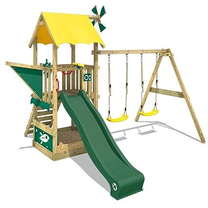 WICKEY Parque infantil de madera Smart Pilot Casita de juego ...