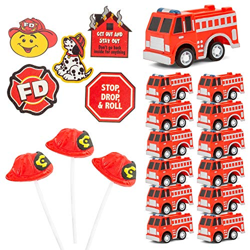 FavonirTM Fireman Themed Party Favor Supplies - 96