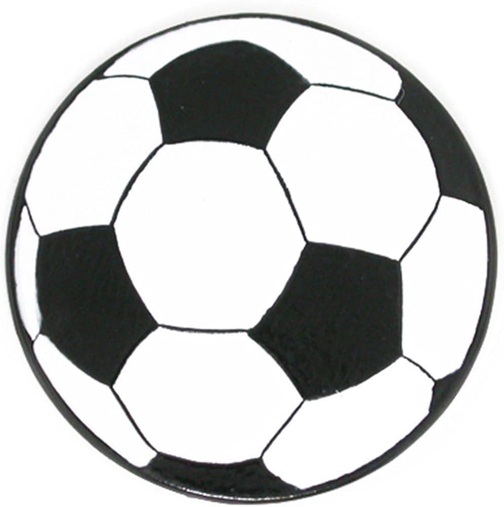 Football and soccer novelty lapel pin. Soccer pin badge