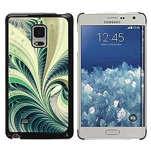 KOKO CASE / Samsung Galaxy Mega 5.8 9150 9152 / naturaleza verde bosque planta de helecho en espiral del arte / Delgado Negro Plástico caso cubierta Shell Armor Funda Case Cover