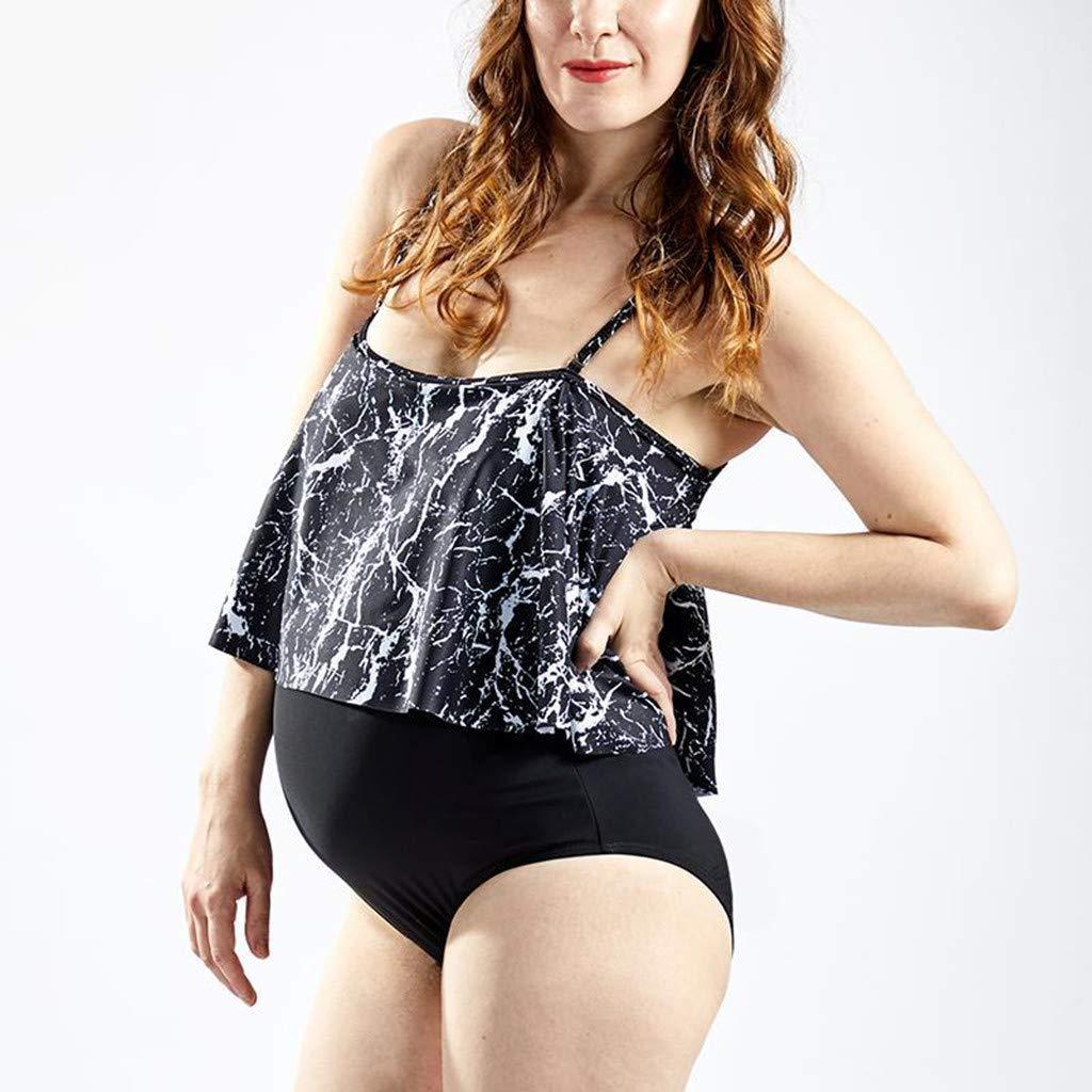 Befristete Promotion!!!Allence Schwangerschafts Badeanzug Tankini Frauen H/ängenden Badeanzug Bikinis Set Halter schwanger Bademode Umstands-Badeanzug
