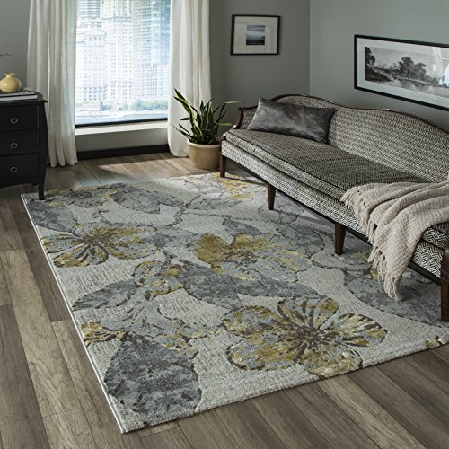 Momeni Rugs LUXE0LX-11GRY7A9A Luxe Collection Area Rug, 7'10