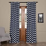 HPD HALF PRICE DRAPES BOCH-KC52-96 Blackout Curtain, 50 X 96, Migaloo Navy Review