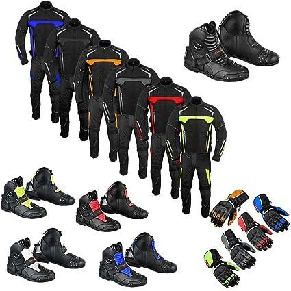 Traje de motocicleta botas de motociclismo zapatos guante 2 ...