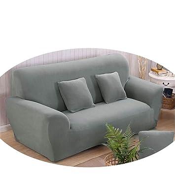 Amazon.com: Funda de sofá de poliéster de color sólido, alta ...