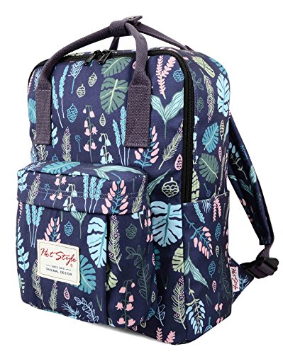 HotStyle BESTIE Small Backpack for College Girls - Holds 13.3-inch Laptop - Jungle