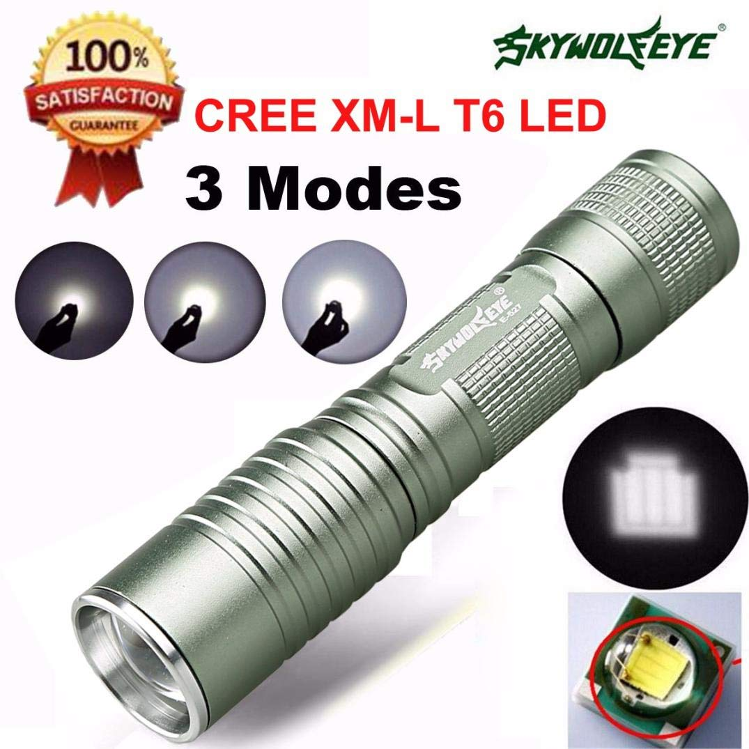 Glumes Flashlight, Super Bright - 1200lm Mini Flashlight Torch Light, Water Resistant, Handheld Light 7W LED - Perfect Cycling, Hiking, Camping, Outdoor,Emergency