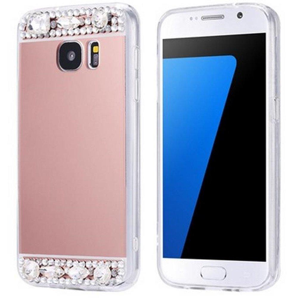Galaxy S8ケース Inspirationc Samsung Galaxy S8 豪華なバンパー スーパースリムミラーケース Samsung Galaxy S8用 ミラーケースカバー Samsung Galaxy S8 Plus(2017) B06ZXVSLXF Samsung Galaxy S8 Plus(2017)|Rose Gold Diamond Rose Gold Diamond Samsung Galaxy S8 Plus(2017)