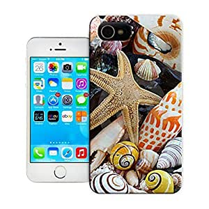 Unique Phone Case Nautilus shell, cone Sea shells and sea star and on a beach Hard Cover for iPhone 4/4s cases-buythecase