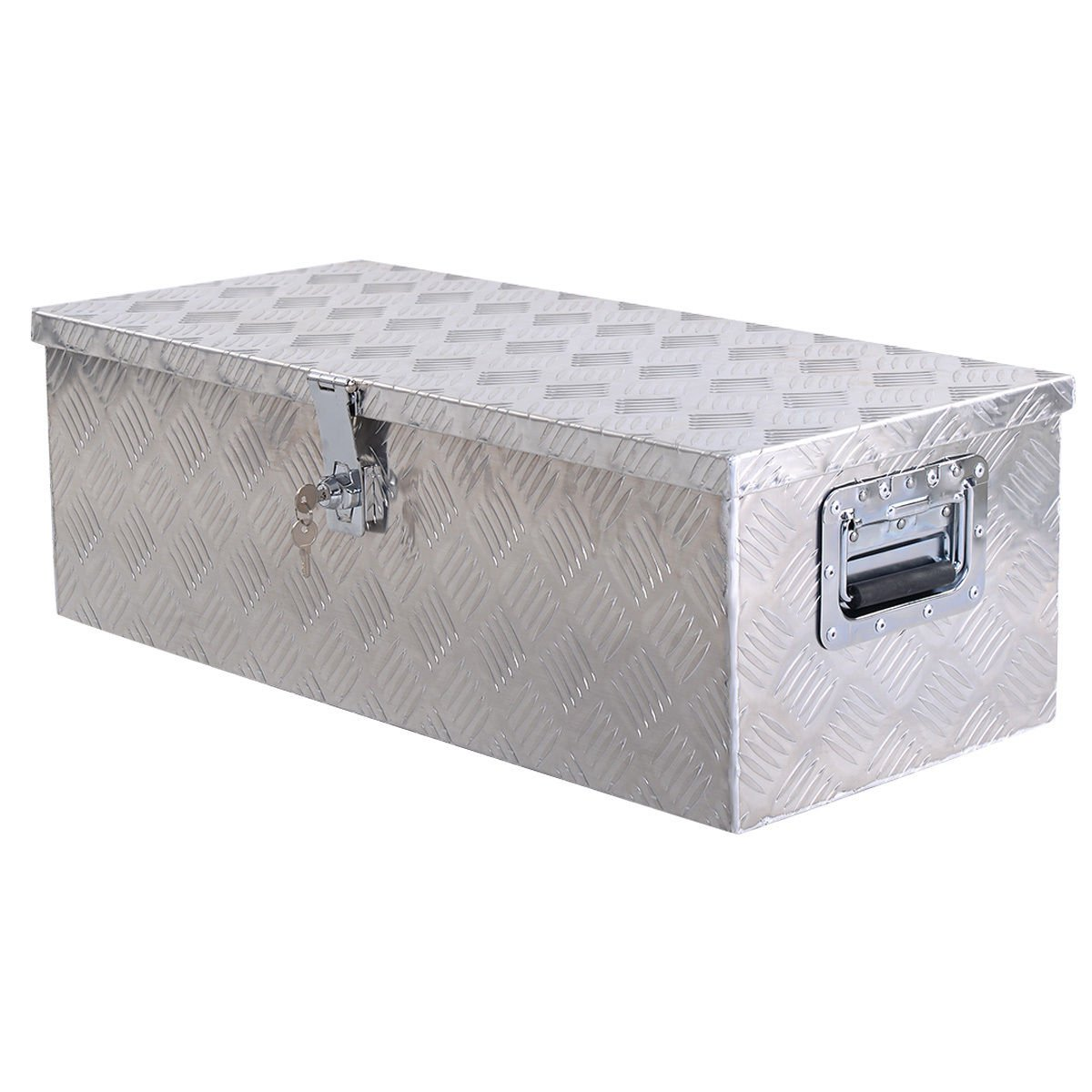 30''L Aluminum Truck Pickup Bed Trailer ATV Tongue Lockable Tool Box W/ Lock. by happybeamy