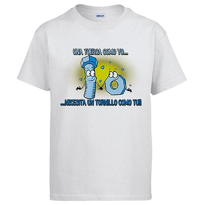 Diver Camisetas Camiseta Una Tuerca Como Tu Necesita Un Tornillo Como Yo Frase Amor San Valentín: Amazon.es: Ropa y accesorios