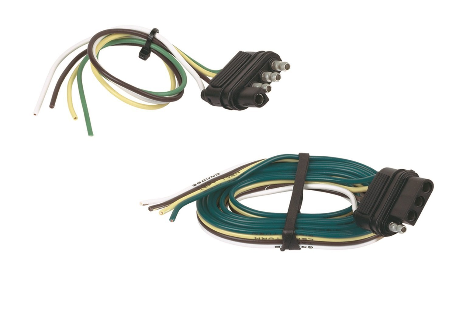 Hopkins Towing Solution Hopkins 48215 4-Wire Flat Connector Set Includes 48035 and 48115