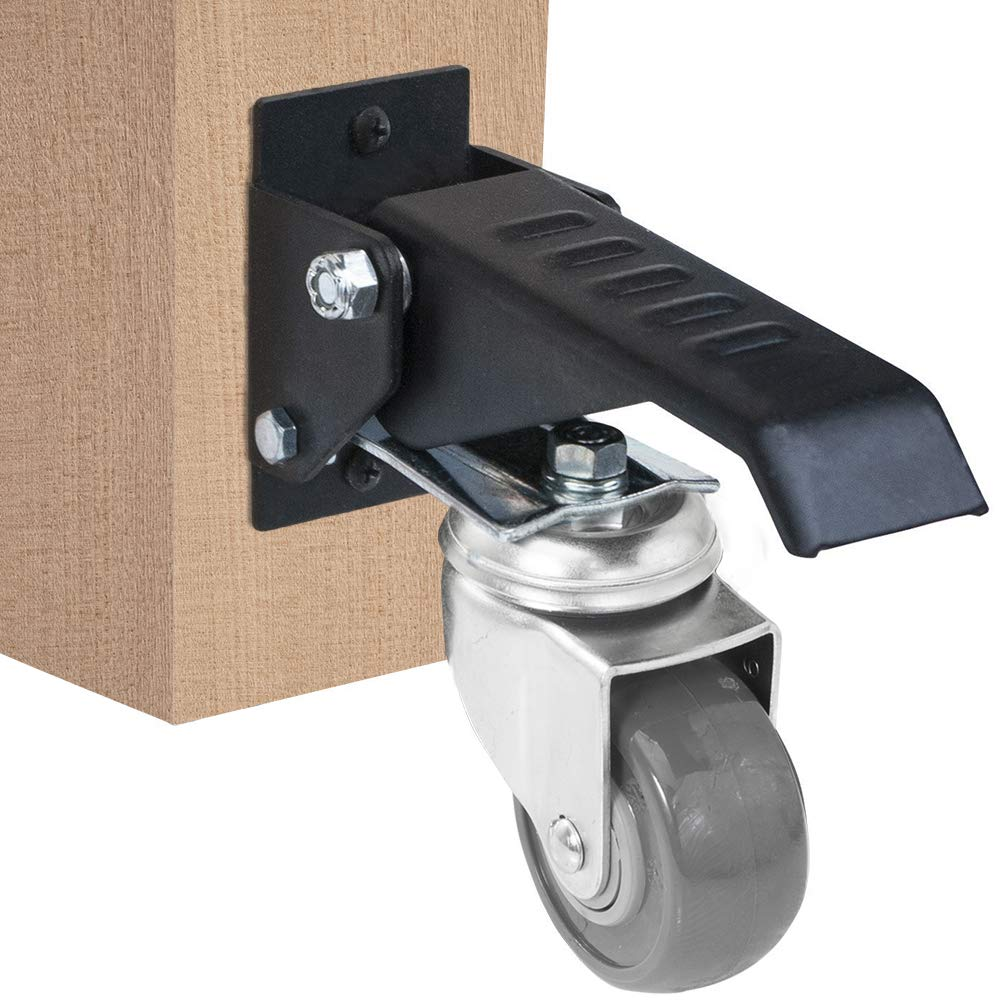 11500 Workbench Caster kit 4 Heavy Duty Retractable casters Urethane Wheels Steel Construction and Designed to Lift and Lower Workbenches Light Machinery and Tables