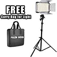 Eloies Simpex Professional 400 Led Video Light kit with Battery and Charger | Light Stand | Umbrella Mount | with Free AC/DC Power Adapter for Videography & PhotographyFree Eloies 7 inches Tripod