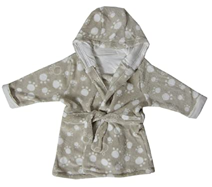 Rivers Trading Baby Girl Boy Children Dressing Gown Brown Fluffy