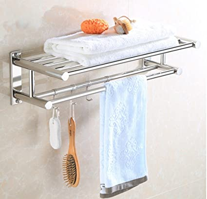 wysm Cuarto de baño WC estanterías de acero inoxidable de doble ...