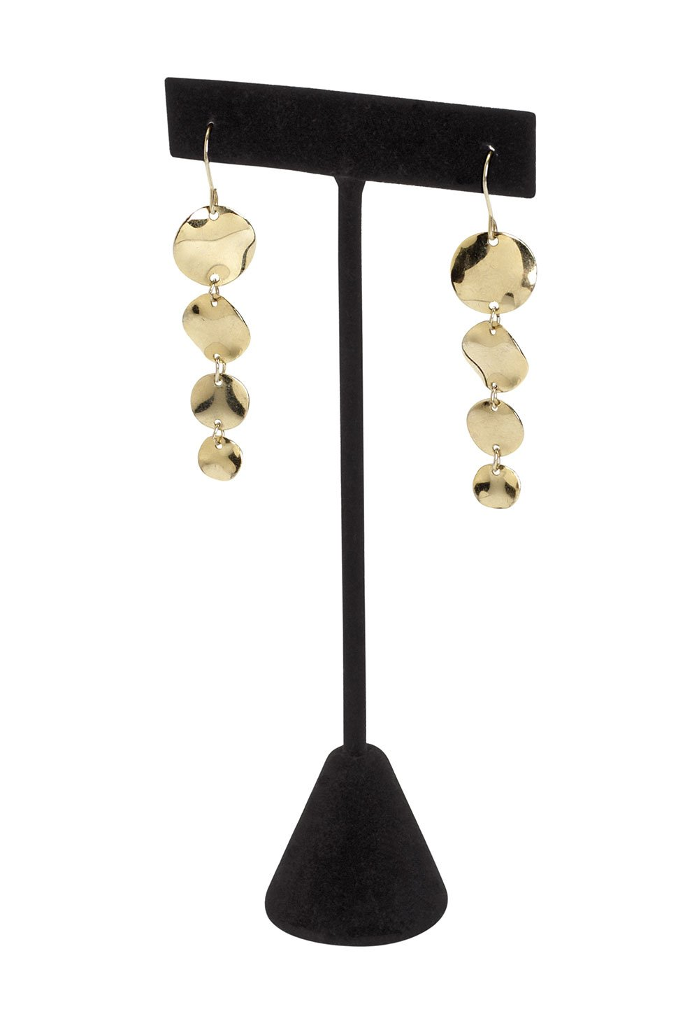 SSWBasics Black Velvet Earring T-Bar Display - Pack of 50