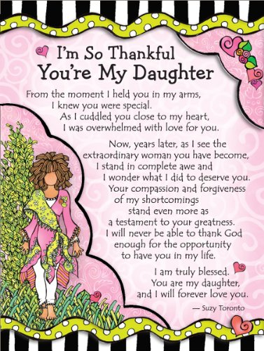 Miniature Easel Print With Magnet Im So Thankful Youre My Daughter 36 X 49