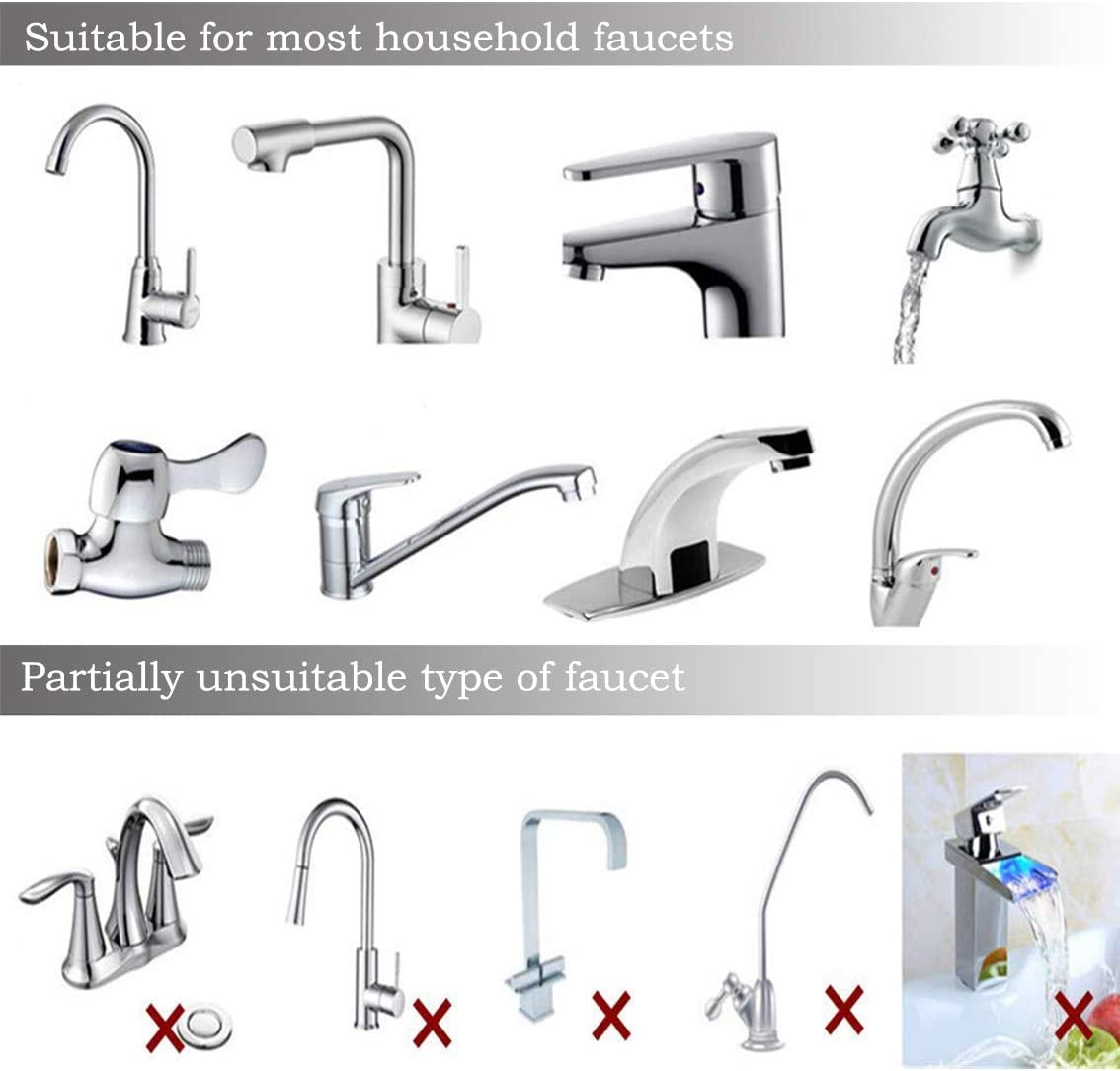 Musitelying Portable Ceramic Water Tap Filter Faucet Kitchen Cleaning Purifier Replacement Cartridge