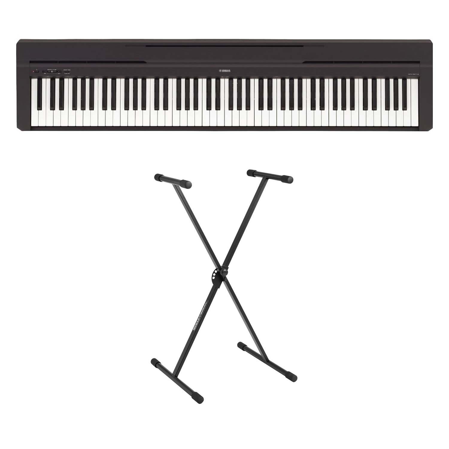 Yamaha P-45 88-Key Weighted Action Digital Piano Blac with stand by Yamaha