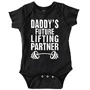 Brisco Brands Daddys Future Lifting Partner Athletic Baby Romper Bodysuit