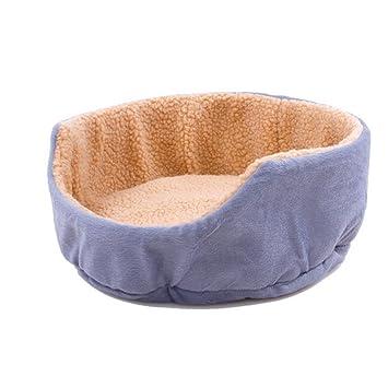 OOFWY Estaciones General Animales domésticos Cove Cuatro linda del perro Cama redonda Económico caseta de perro Gato Nido, gray: Amazon.es: Deportes y aire ...