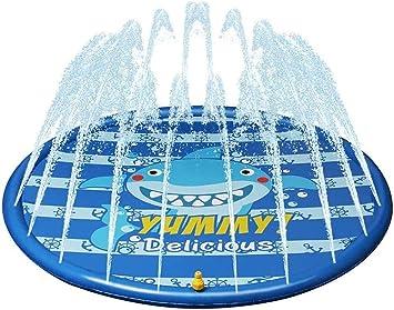 Splash estera del juego, de 67 pulgadas Splash Pad niños de rociadores de agua Splash estera