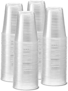 [240 Pack - 12 oz.] Clear Disposable Plastic Cups - Cold Party Drinking Cups
