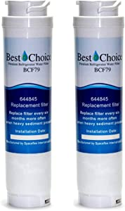 Bosch 644845 REPLFLTR10 UltraClarity Compatible By Best Choice Water Filters Certified Refrigerator Replacement Cartridge Fits Ultra Clarity 9000194412 (2-Pack)