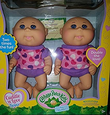 Amazon. Com: cabbage patch kids twin girl cuddlers and so cute twin.