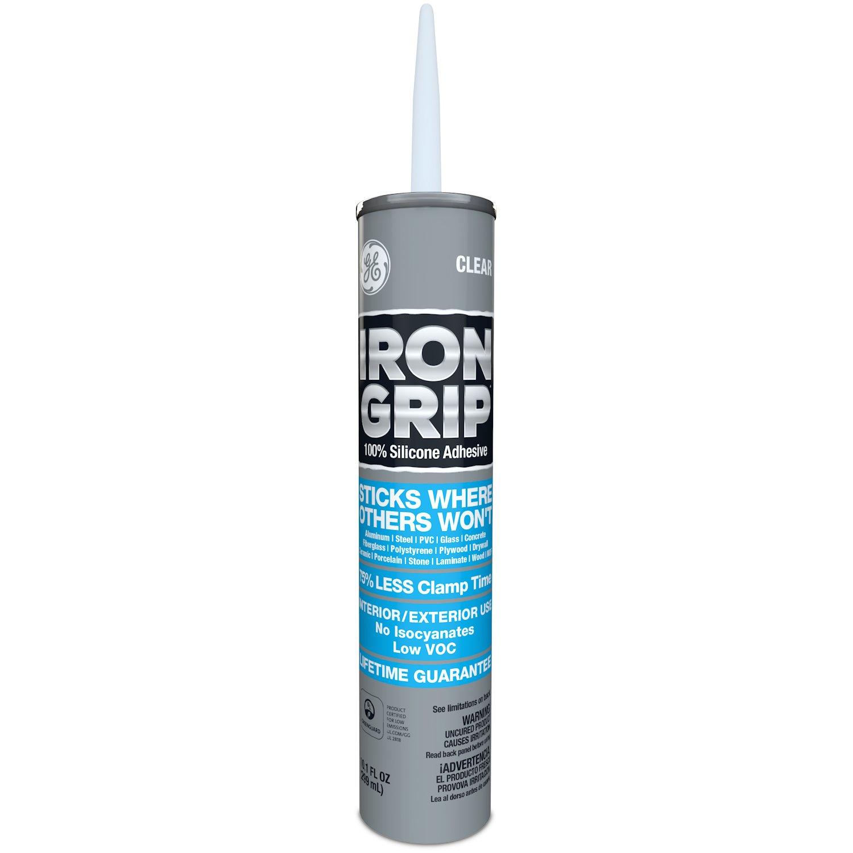 GE M90058 Iron Grip Silicone Adhesive 10.1 oz. Clear