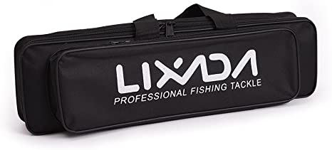 Lixada Portable Fishing Bag Case Fishing Rod and Reel Travel Carry Case Bag Carrier Fishing Pole Gear Tackle Storage Bag Hunting Bag Case Organizer