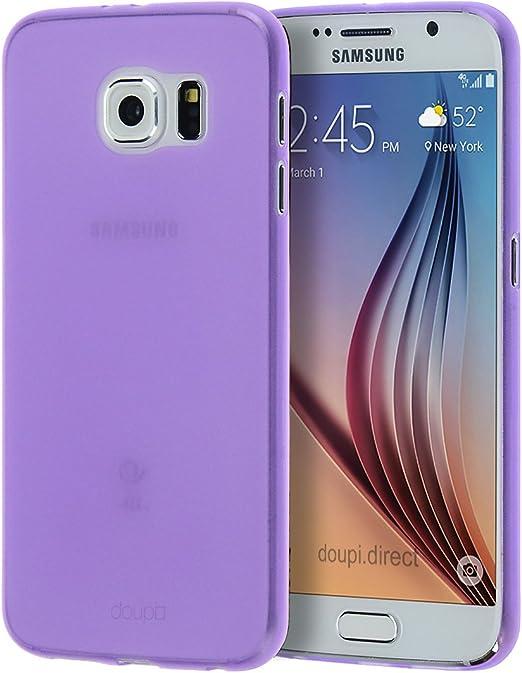 Doupi Ultraslim Coque Samsung Galaxy S6 (à plat) Fine Mat Feather Light Bumper Protector Sleeve Skin Coque