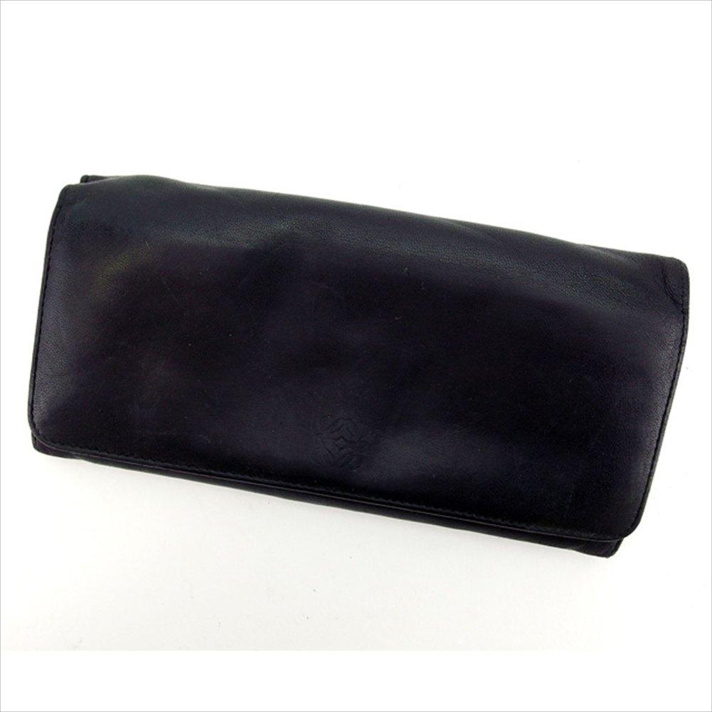ロエベ LOEWE ZIP長財布 二つ折り財布 ユニセックス ロゴグラム 中古 F1073   B06WP7KXWC