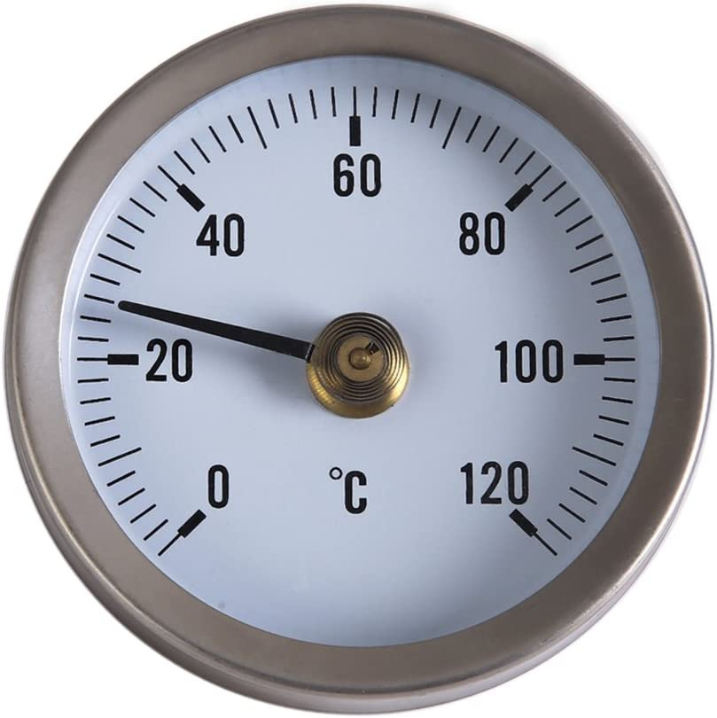 Industrial Temperature Gauge Dial Thermometer 0//120/°C for Water//Oil 1//2 Awakingdemi Water Temperature Gauge