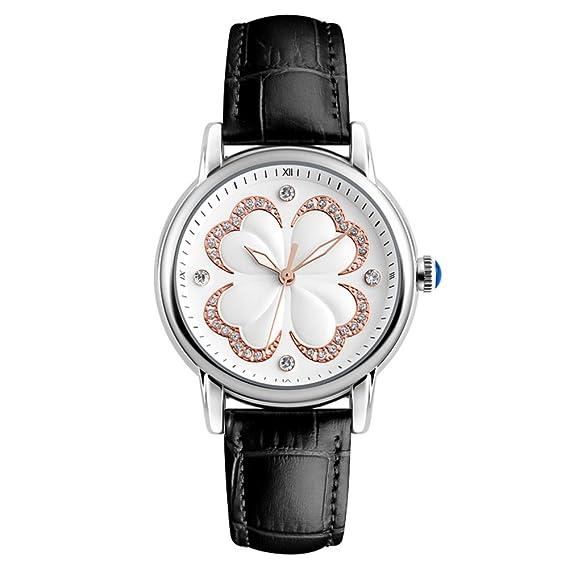Reloj de cuarzo para mujer, resistente al agua, con tres puntadas