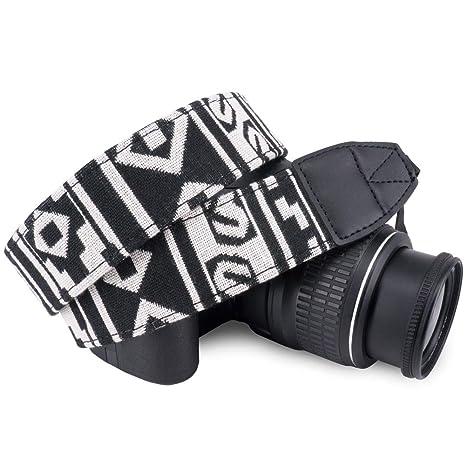 Cámara hombro cuello Vintage correa Correa para Sony Nikon Canon Cám ES