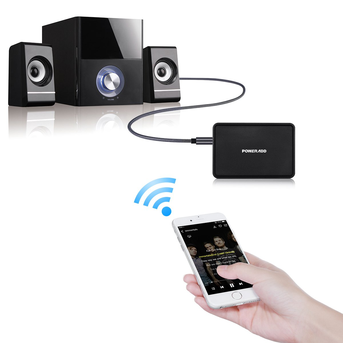Poweradd Bluetooth 4.0 Receptor inalámbrico adaptador de ...
