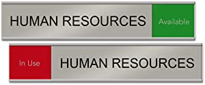 "Human Resources Slider Nameplate and Sign (Red/Green, 10"" x 2"")"