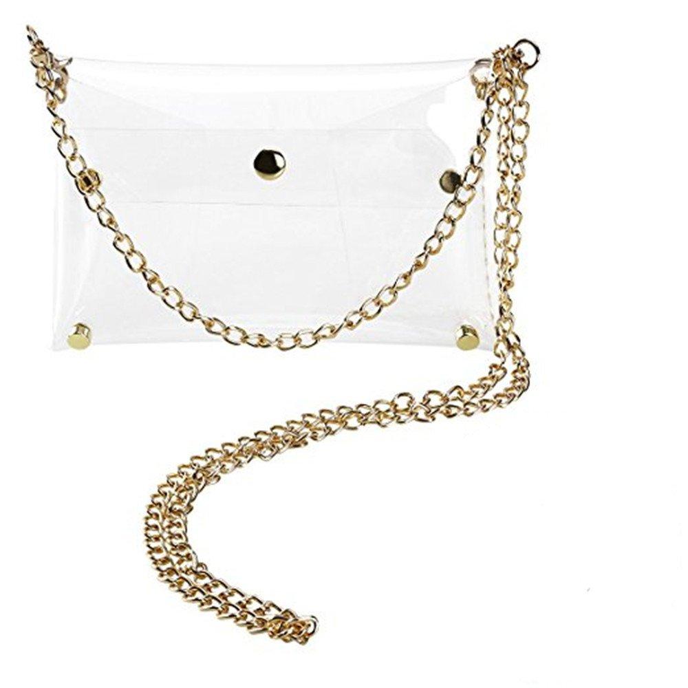 Patty Both Clear PVC Cross Body Bag Clutch Messenger Handbag Tote Shoulder Bag (clear)