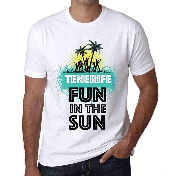 Ultrabasic Mens Graphic T-Shirt Summer Dance Tenerife White ...