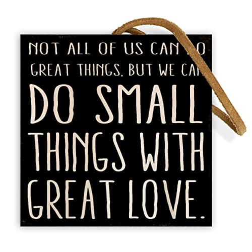 Do Small Things With Great Love. Mother Teresa | 4-inch by 4-inch | Wooden Square Block for Desk or Shelf With Inspirational Quote from Pinterest