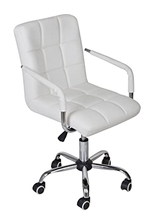 white modern office furniture. tms white modern office executive synthetic leather swivel arms chair computer desk task furniture