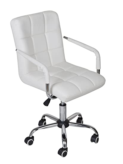 white modern office. Exellent Office TMS White Modern Office Executive Synthetic Leather Swivel Arms Chair  Computer Desk Task And W