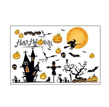 Cosanter 1 X Pvc Autocollant Mural Happy Halloween Decoration Murale