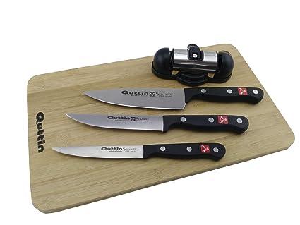 Compra QUTTIN SYBARITE Set 3 Cuchillos Tabla+AFILADOR en ...