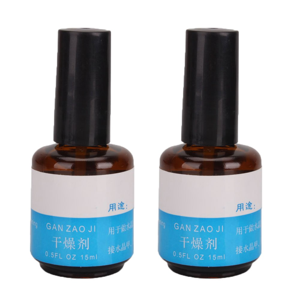 2 Pcs Professional 0.5oz Acrylic Primer for Nail Art Dry DIY Decoration